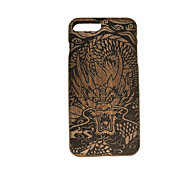 Para En Relieve Funda Cubierta Trasera Funda Animal Dura Madera para Apple iPhone 7 Plus
