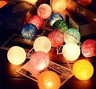2.5M  20Leds Rattan Ball String Fairy Lights  Wedding Decoration Party Hot Use  Colorful Fairy Light Garden Decoration