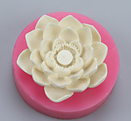 Lotus Flower Candle Sugar Clay Hand Soap  Salt Carved  DIY Silicone Food Grade Silicone Mold
