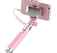 Palo de selfie  Monópodo Con Cable Extensible con Cable Palo de Selfie para iPhone Smartphone Android