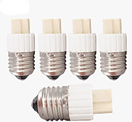 E27 Screw Base to G9 Ceramic Plug Holder Socket Adaptor (5 Pieces)