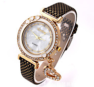 Kimseng Fashion Gold Shell Heart-Shaped Pendant Diamond Ladies Watch Crystal Quartz Watch