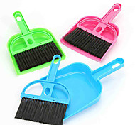 Rodents Cleaning Broom Dustpan Portable Plastic Green Blue Pink