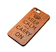 Wooden iphone Case British Empire World War Famous Aphorism Keep Calm and Carry On Hard Back Cover for iPhone 5/5s