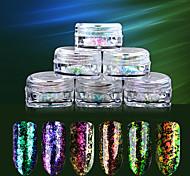 6SET Декор для нейл-арта горный хрусталь жемчуг макияж Косметические Ногтевой дизайн