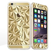 For Apple iPhone 6s/6 4.7 Screen Protector Front Screen Protector and Back Protector Electroplating Geometric Pattern