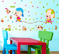 Kindergarten School Cartoon Animal Cute Pig Wall Stickers DIY Children's Removable Wall Decals