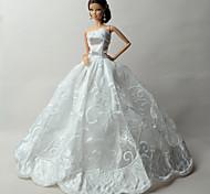 Свадьба Платья Для Кукла Барби Платья Для Девичий игрушки куклы