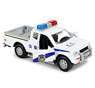 Military Vehicle Pull Back Vehicles Car Toys 1:10 Metal White Blue