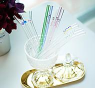 цветной Стаканы, # ml Многоразового использования Стекло Сок Газированные напитки Соломинки