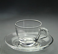 Minimalism Transparent Party Drinkware, 80 ml Decoration Glass Tea Water Coffee Mug