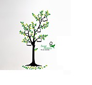 Large Tree Photo Frame Wall Stickers Tree Birds PVC Sweet Memory Wall Decals For Family Love Room