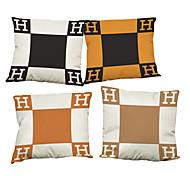 Set of 4 Creative dachshund  pattern  Linen Pillowcase Sofa Home Decor Cushion Cover