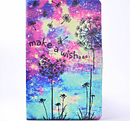 For Samsung Galaxy Tab T580 T350 PU Leather Material Dandelion Pattern Painted Flat Protective Cover T550 T560 T280