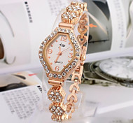 Fashion Watch Bracelet Watch Quartz Alloy Band Gold