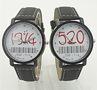 Men's / Women's / Couple's Fashion Watch / Wrist watch Digital Plastic Band Cool / Casual Black Brand