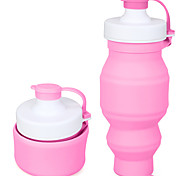 Novelty Sports Drinkware, 500 ml Leak-proof Silicone Juice Water Foldable Bottle