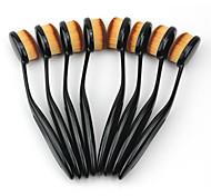 1 Кисть для румян Кисть для консилера Кисть для основы Щетка контура Синтетические волосы Офис Путешествия Экологичность Переносной