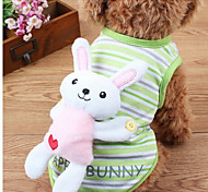 Dog Coat Green Pink Dog Clothes Summer Cartoon Cute