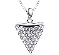 Pendants Sterling Silver Rhinestone Basic Heart Silver Jewelry Daily Casual 1pc