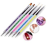 5pcs Double Head Drill Bit Pen With 5 Color Pen