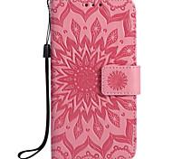 Для Кошелек Бумажник для карт со стендом Флип Рельефный С узором Кейс для Чехол Кейс для Мандала Твердый Искусственная кожа для SamsungS7