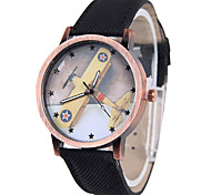 Fashion Watch Quartz Fabric Band Black Blue Red Orange