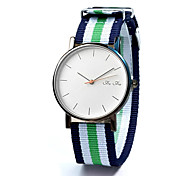 Fashion Watch Quartz Fabric Band Casual Black White Blue Red Green