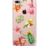 Succulent Plants  Pattern Case Flower Soft TPU for Apple iPhone 7 Plus iPhone 7 iPhone 6s Plus 6 Plus iPhone 6s 6 iPhone5 SE 5C iphone 4
