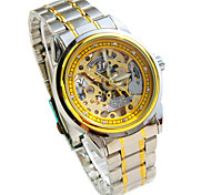 Men's Mechanical Watch Automatic self-winding Alloy Band Silver Brand