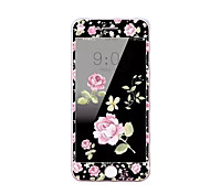For Apple iPhone 7 Plus 5.5 Inch Tempered Glass Screen Protector with Soft Edge Full Screen Coverage Front Screen Protector Cartoon Flowers Pattern