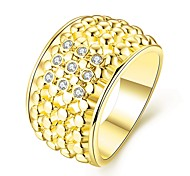 Elegant Personality Geometry Fashion Jewelry  Lady Ring Water Drop Ring Casual Gold Plated & Rhinestone Finger Ring