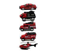 Fire Engine Vehicle Vehicle Playsets 1:64 Metal Plastic Rainbow