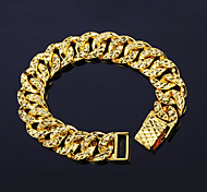 Men's Women's Chain Bracelet Copper Gold Plated 24K Plated Gold Fashion Punk Rock Irregular Gold Jewelry 1pc