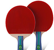 2 Estrellas Tabla raquetas de tenis Ping Pang Goma Mango Corto Las espinillas Interior Deportes de ocio