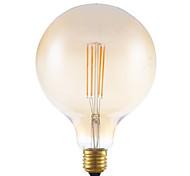 4w e27 levou filamento lâmpadas G125 4 espiga 350 lm âmbar regulável 220-240V ac decorativo