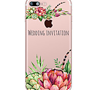 Succulent Plants Pattern Case Back Cover Case Flower Soft TPU for Apple iPhone 7 Plus iPhone 7 iPhone 6s Plus 6 Plus iPhone 6s 6 iPhone 5 iphone 4