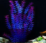 Aquarium Decoration Waterplant Plastic Purple