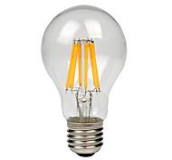 8W E27 Bombillas de Filamento LED A60(A19) 8 COB 750 lm Blanco Cálido Blanco Fresco AC 100-240 V 1 pieza