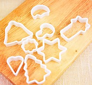 8Pcs  Cookie Mould The Christmas Tree  Little  Bell  Stars The Moon  And So  On