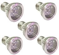 5W E14 GU10 E27 Lampes Horticoles LED 10 SMD 5730 165-190 lm Bleu Rouge V 5 pièces