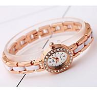 Women's Fashion Watch Simulated Diamond Watch Imitation Diamond Quartz Alloy Band Cool Casual Rose Gold