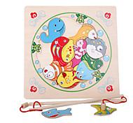 Fishing Toys Model & Building Toy Toys Novelty Toys Wood Khaki For Boys For Girls