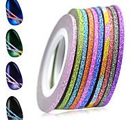 1set 12rolls Стикер искусства ногтя Фольга зачистки ленты макияж Косметические Ногтевой дизайн