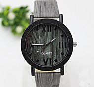 Unisex Fashion Watch Quartz PU Band Casual Brown Green