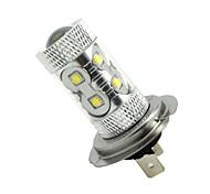 2x H7 PX26D 50W 10xCREE Cold White 3100LM 6500K for Car Fog Light (AC/DC12V-24)