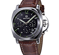 Fashion Watch Quartz Leather Band Charm Casual Black Silver Brown