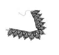 Choker Necklaces Statement Necklaces Jewelry Lace Fabric Jewelry Fashion Personalized Euramerican Statement Jewelry White Black Jewelry