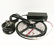 z®zdm 16,4 ft (5m) Wasserdichtes 72W 300pcs 5050 3red 1blue / Gruppe Pflanze LED-Beleuchtungsstreifen mit 12V / 6a Stromversorgung AC100-265V