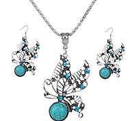 Jewelry Set Jewelry Alloy Unique Design Dangling Style Euramerican Fashion Jewelry Green Pendant Necklaces Earrings Wedding 1set1